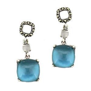 Denim Mother of Pearl Earring MJ20706