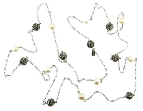Freshwater Pearl & Marcasite Chain MJ20723