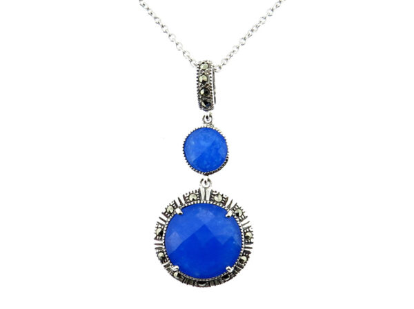 Blue Chalcedony Pendant on Chain MJ20725