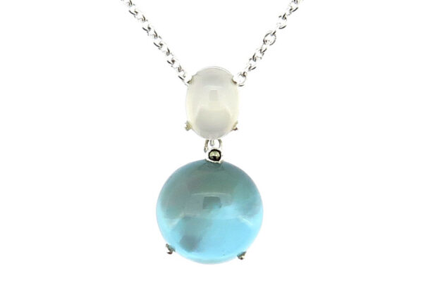 Denim Mother of Pearl Necklace MJ20738