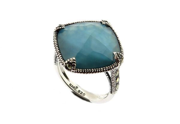 Denim Mother of Pearl Ring MJ20753