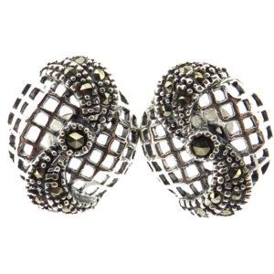 Marcasite Stud Earrings MJ20786