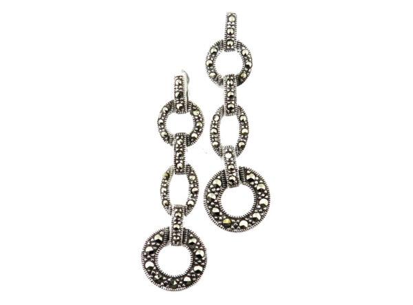 Marcasite Drop Earrings MJ20799