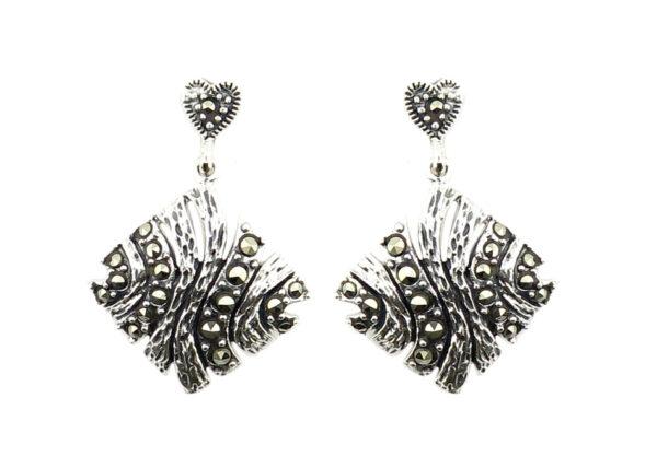 Marcasite Drop Earrings MJ20816