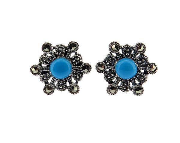 Simulated Turquoise Stud Earring MJ21048