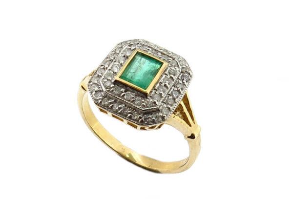 Emerald & Diamond Ring MJ21080