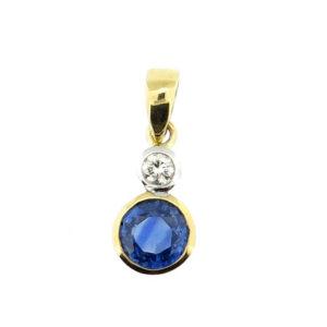 Sapphire & Diamond Pendant MJ21097