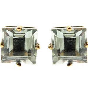 Green Amethyst Stud Earrings MJ21102