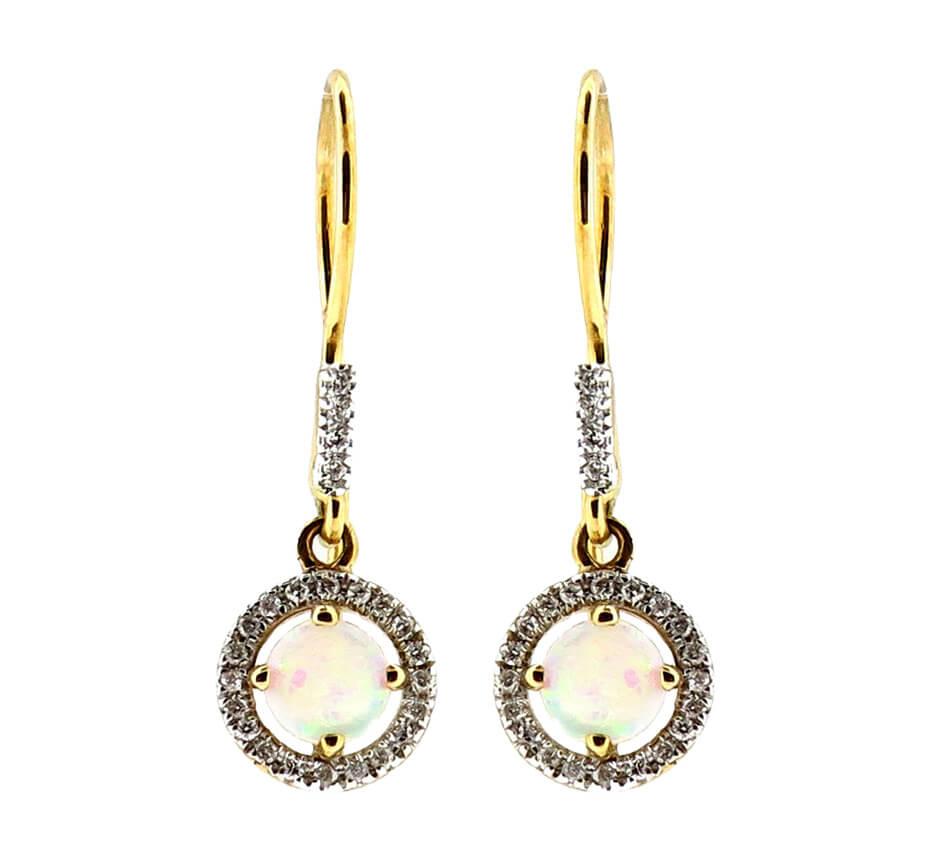 Opal & Diamond Earrings MJ21108