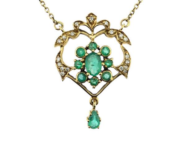 Emerald & Diamond Necklace MJ21113