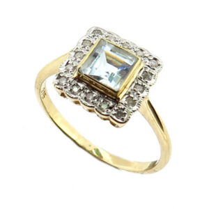 Aquamarine & Diamond Ring MJ21115