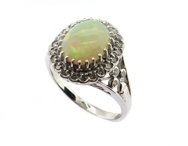 Opal & Diamond Ring MJ21122