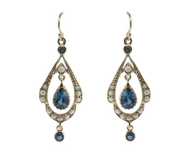 London Blue Topaz & Pearl Earrings MJ21133