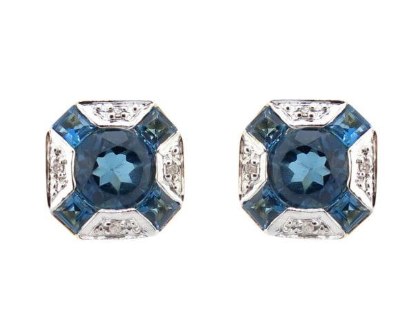 London Blue Topaz & Diamond Studs MJ21680