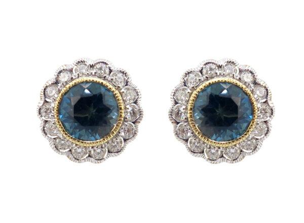 London Blue Topaz & Diamond Earrings MJ21683