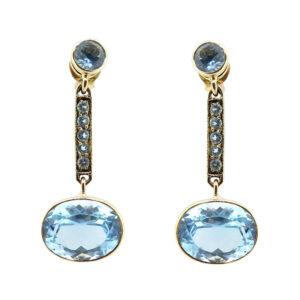 Blue Topaz Earrings MJ21711