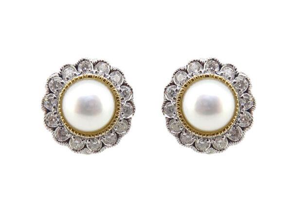Pearl & Diamond Earrings MJ21717