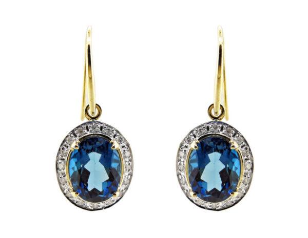 London Blue Topaz & Diamond Earrings MJ22130