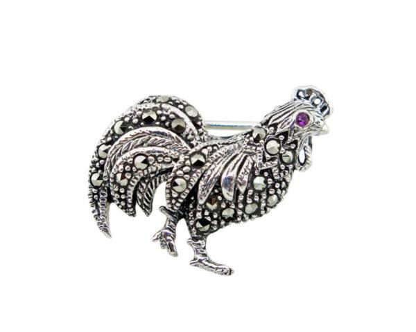 Rooster Brooch MJ22406