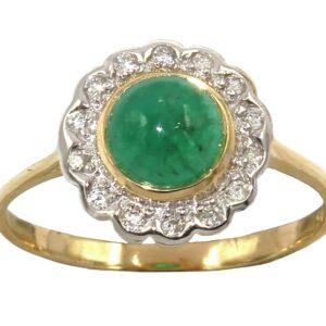EMERALD AND DIAMOND RING MJ24389