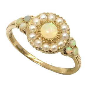 OPAL AND PEARL RING MJ24393