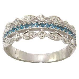 LONDON BLUE TOPAZ AND DIAMOND RING MJ24395