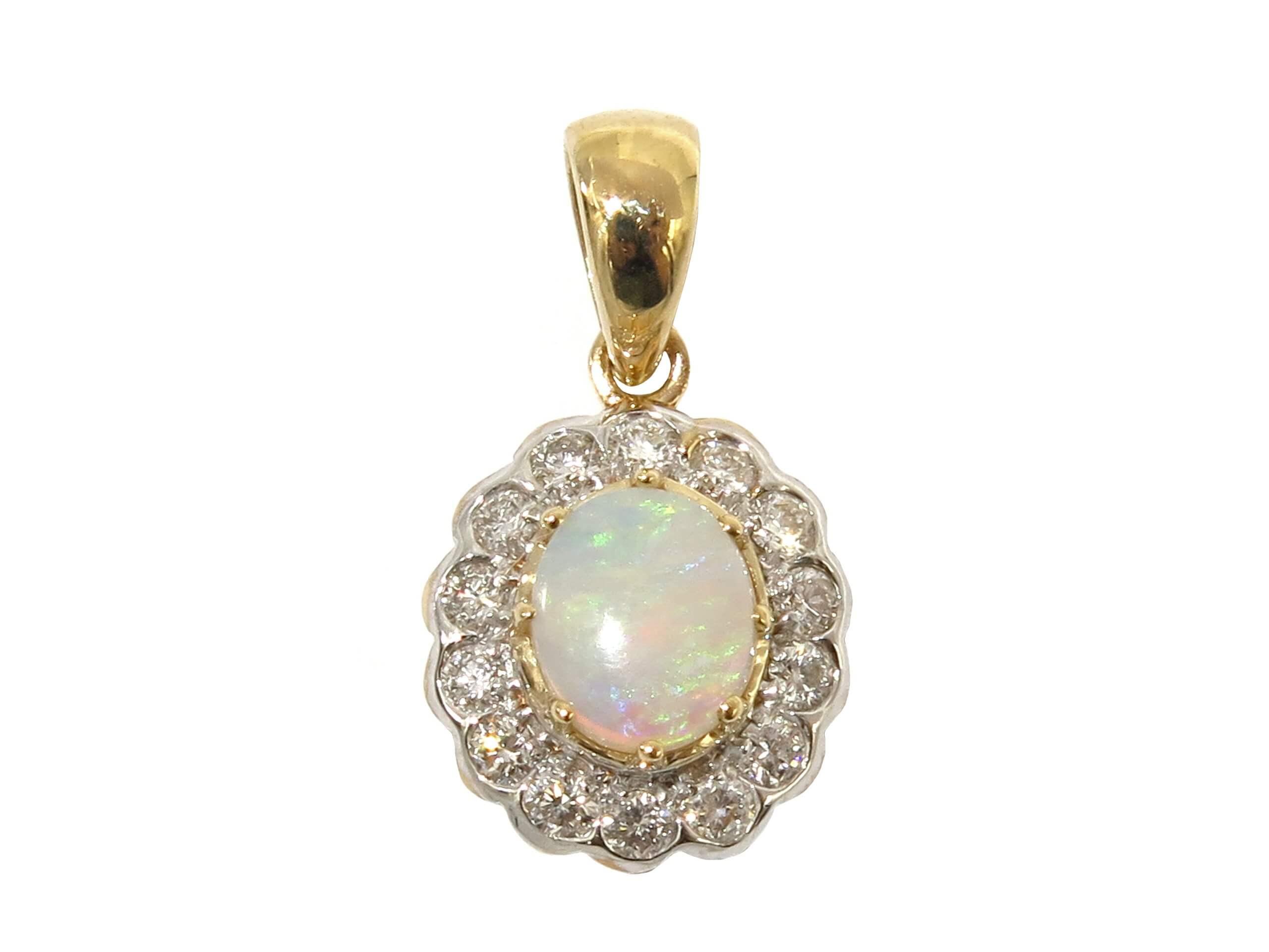 OPAL AND DIAMOND PENDANT MJ24400