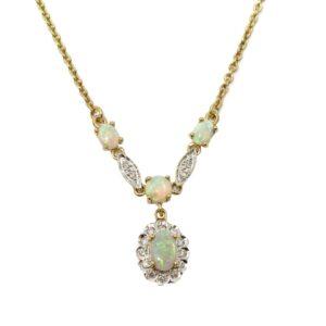 OPAL AND DIAMOND NECKLACE MJ24407