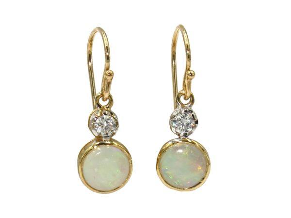 OPAL AND DIAMOND EARRINGS MJ24418