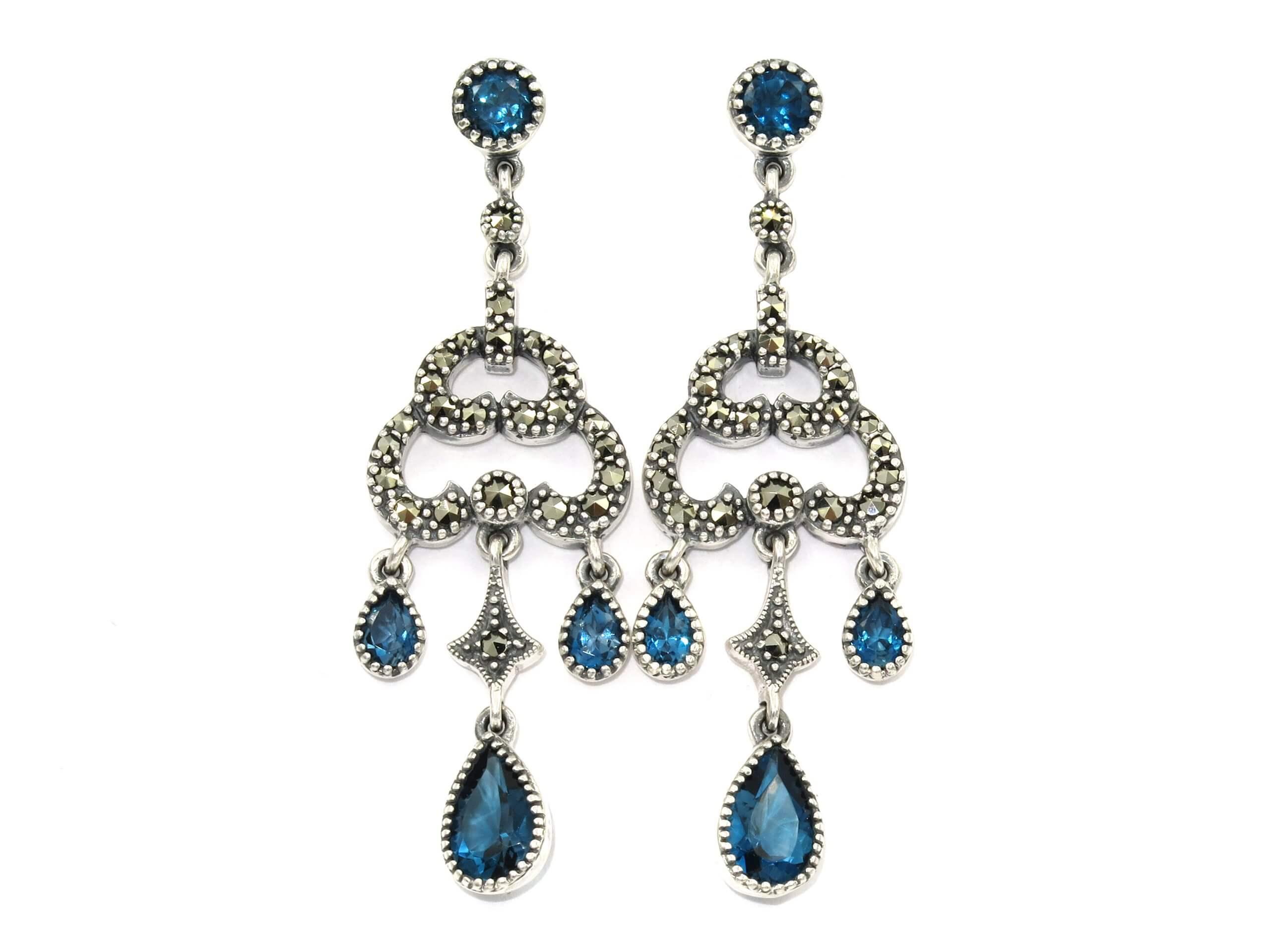 LONDON BLUE TOPAZ EARRINGS MJ24469