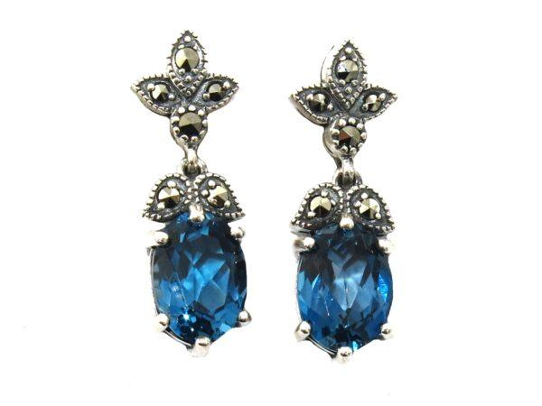 LONDON BLUE TOPAZ EARRINGS MJ24510