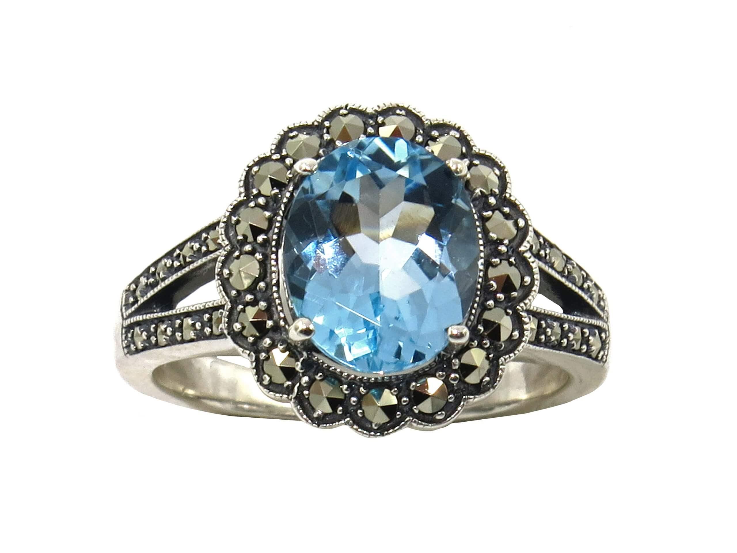 BLUE TOPAZ RING MJ24556