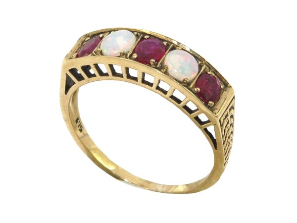 RUBY AND OPAL RING MJ24575
