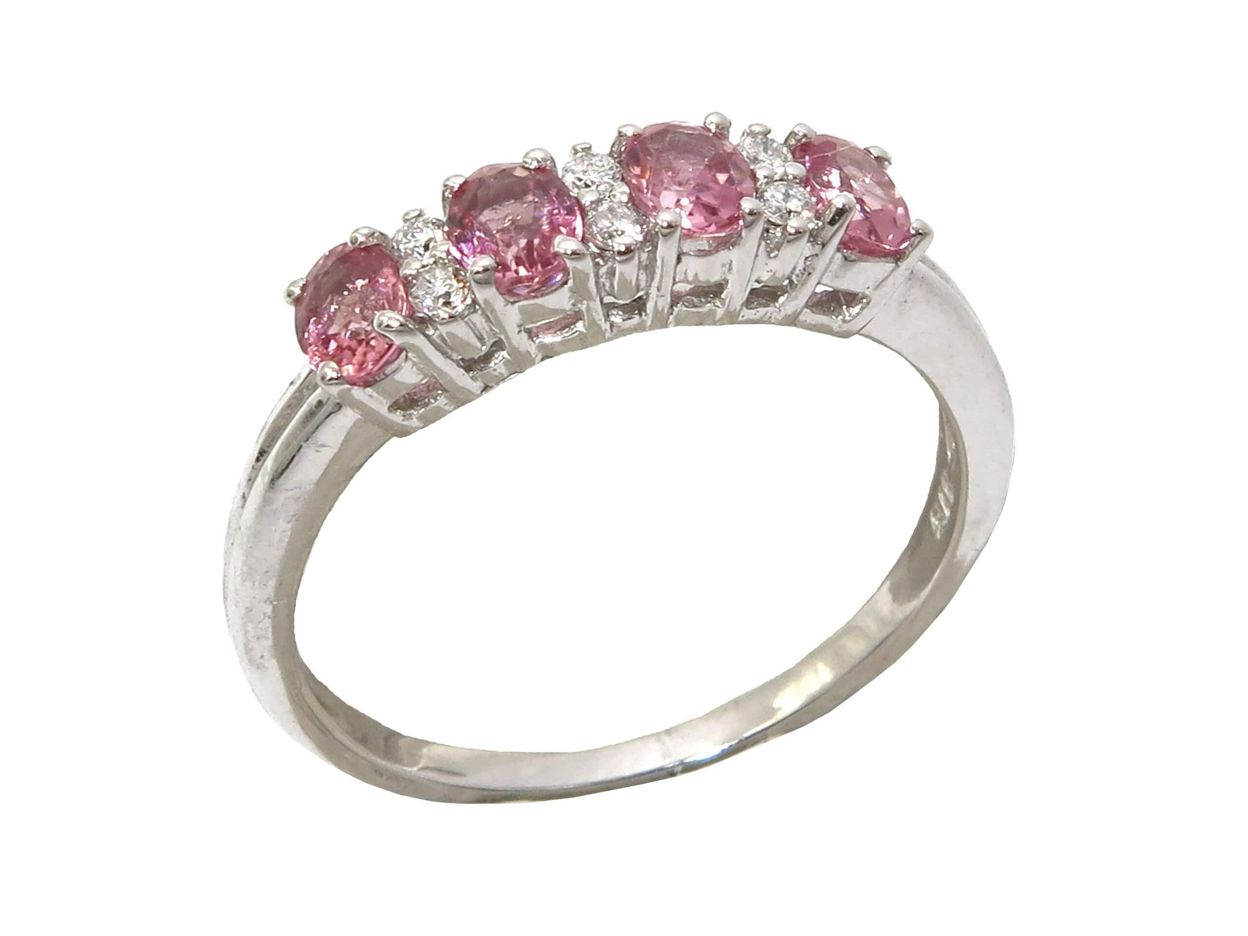 PINK TOURMALINE AND DIAMOND RING MJ24577