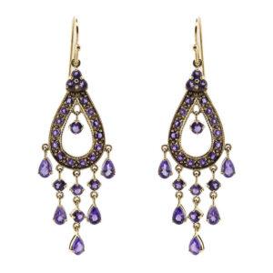 Amethyst Chandelier Earrings MJ4695