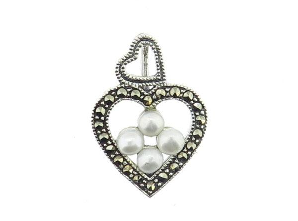 Pearl Heart Pendant MJ5276