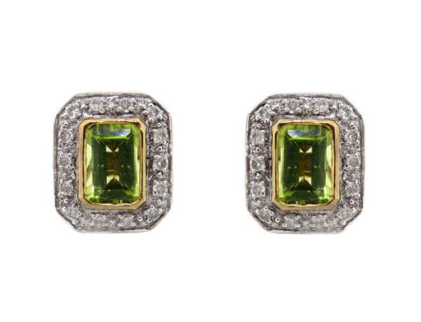 Peridot & Diamond Earrings MJ5922
