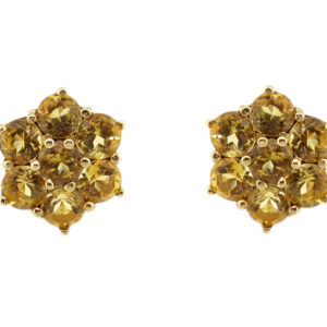 Citrine Cluster Earrings MJ7103