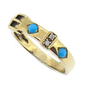 Turquoise Buckle Ring MJ7236