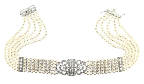 Pearl & Diamond Collar MJ8154