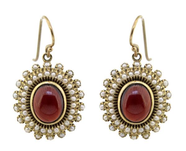 Garnet & Pearl Earrings SHA9